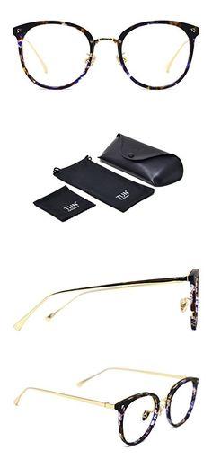 e7746d5194 TIJN Vintage Optical Eyewear Non-prescription Eyeglasses Frame with Clear  Lenses
