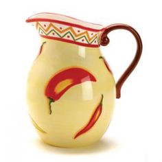 Southwest Red Chili Pepper Cookie Jar Made In Usa By