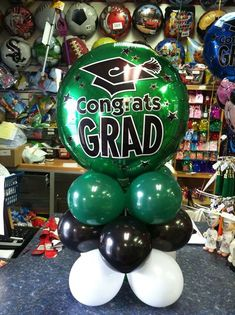 Table Topper Order it Uninflated & DIY Kit. Graduation Crafts, Graduation Party Favors, Graduation Leis, Graduation Balloons, Graduation Table Centerpieces, Graduation Decorations, Candle Centerpieces, Wedding Centerpieces, Balloon Bouquet Delivery