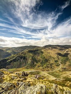 Crinkle Crags and Bowfell over Mickleden from Pike of Stickle | Flickr - Photo Sharing!