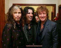 Steven Tyler, Alice Cooper & Richie Sambora