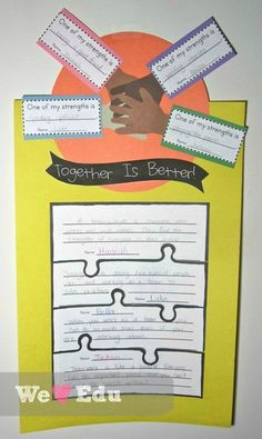 We're Better Together Craftivity
