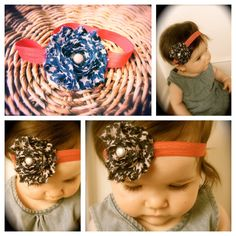 Fourth of July Vintage Baby Headband with shabby by CutieBrands, $9.99