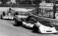 """""""Niki"""" Lauda (AUT) (Marlboro-BRM), BRM P160E - BRM V12 (RET)Albert François Cevert  (FRA) (Elf Team Tyrrell), Tyrrell 006 - Ford V8 (finished 2nd)1973 Spanish Grand Prix,"""