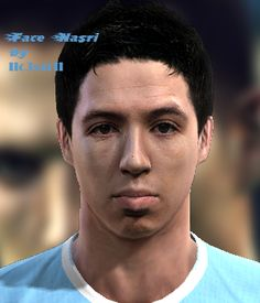 Nasri face for Pro Evolution Soccer 2012 Pro Evolution Soccer, Faces, Pes 2013, The Face, Face