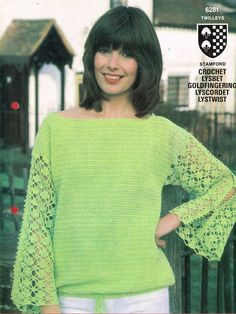 Twilleys 6281  ladies long sleeve jumper  by EnglishCrochet, £1.20