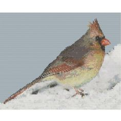 Lady Cardinal In The Snow is a bead pattern