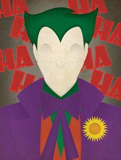 Minimal Villains: The Joker by JeffJanelleArtDesign on Etsy Arte Dc Comics, Batman Comics, Joker Batman, Gotham Batman, Batman Art, Batman Robin, Joker Kunst, Art Du Joker, Pop Art