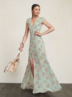 The Maiden Dress is so graceful and lovely, you may find yourself on your best behavior while wearing it. It's just a really pretty lady and that's exactly how you'll feel in it. https://www.thereformation.com/products/maiden-dress-mint-julep?utm_source=pinterest&utm_medium=organic&utm_campaign=PinterestOwnedPins