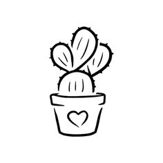 Xăm Cactisi by Nicole Walker is a Hearts temporary tattoo from inkbox Small Easy Drawings, Easy Doodles Drawings, Sharpie Drawings, Cute Little Drawings, Mini Drawings, Art Drawings Sketches Simple, Beautiful Easy Drawings, Easy Drawings For Beginners, Simple Drawing Designs