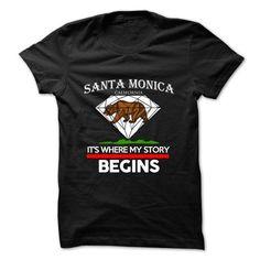 Cool Santa Monica - California - Its Where My Story Begins ! T-Shirts