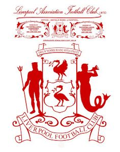 "The image below has been recreated using an old letterhead dating back to the The letterhead has the ""City of Liverpool"" coat of ar. Liverpool Tattoo, Fc Liverpool, Liverpool Football Club, British Football, Best Football Team, English Cup, Uefa Super Cup, Bristol Rovers, This Is Anfield"