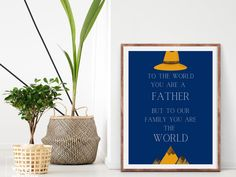 Excited to share the latest addition to my #etsy shop: Father's Day Gift Inspirational Wall Art, Printable #printableart #dadgift #fathersdaygift #fathersday #inspirational #quote #wallart #giftfordad #gift #giftforhim #diy #diydecor #print #navy #brown #rustic #printableart #walldecor #printable #blue #birthday #entryway #rusticprimitive #phrasesaying #vertical You Are The World, Inspirational Wall Art, Gifts For Dad, Printable Art, Etsy, Dad Gifts, Daddy Gifts