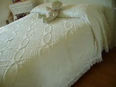 Chenille White bed spread this is what my bed looked like.