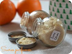 Cadeaux gourmands : sucres parfumés (citron ou orange-cannelle)