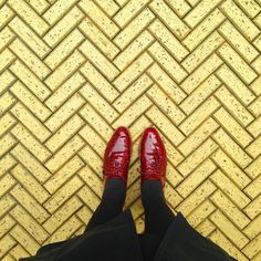 Lonny's Favorite #Floorcore Instagrams: And on her way home, @garruppo stumbled upon the yellow brick road.