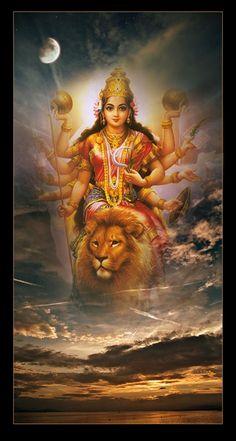 Navratri Puja will help you overcome all your negativities. Flourish with wealth on this Navratri by offering Homam to Lakshmi, Saraswathi & Durga. Durga Maa, Durga Images, Goddess Art, Durga, Shakti Goddess, Kali Hindu, Aadi Shakti, Shiva Parvati Images, Durga Puja