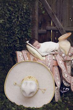 newborn in a mexican saddle / saddle / newborn