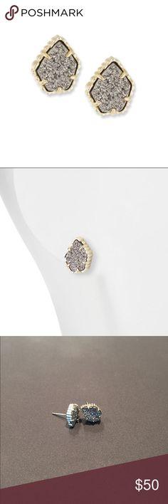 Kendra Scott stud earrings Kendra Scott Tessa Druzy Button Earrings, Silver, Women's Kendra Scott Jewelry Earrings