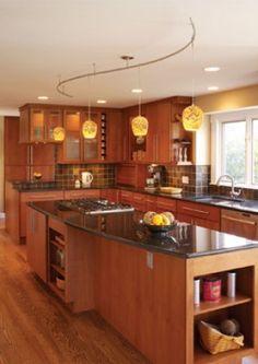 11 Stunning Photos of Kitchen Track Lighting | Family kitchen ...