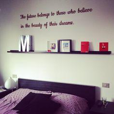 Una #camera da #letto originale perché arricchita di una #scritta in 3d personalizzabile con la frase, il font e il materiale che preferite! La trovate su homegram.it