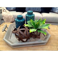 Nothing makes a home feel homier than greenery! These artificial succulents are sure to do the trick! {Down to Earth} #gardnervillage #downtoearthhome #greenery #succulents #interiordesign #makehomeyours