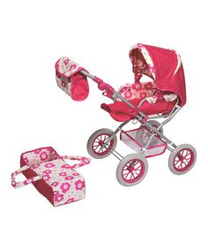 Another great find on #zulily! Pink Doll Carriage by Lollipop Toys #zulilyfinds