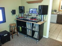 dj desk constructed by ikea parts bosh dj pinterest. Black Bedroom Furniture Sets. Home Design Ideas
