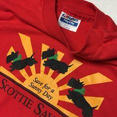 8a443b62339 Vtg 90s Hanes 50 50 Tee SCOTTIE SAVERS! No Little Logo   - Depop