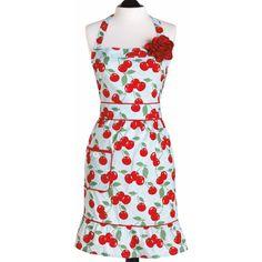 Jessie Steele Apron Courtney Kitchen Cherry as seen in Woman's World July 2013.