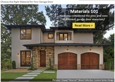 How to Choose Your Garage Door Material. Learn the pros and cons of wood, steel, composite, and glass. clopaydoor.com