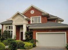 Image result for brick house garage door color