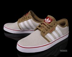 Adidas Skateboarding Seeley-Craft Canvas-White-University Red