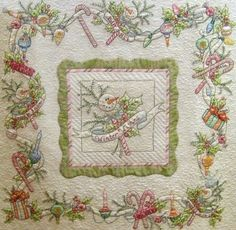 pictures of crabapple hill country garden quilt - Yahoo Canada Search Results Christmas Sewing, Christmas Embroidery, Hand Embroidery, Embroidered Quilts, Applique Quilts, Quilting Projects, Quilting Designs, Crabapple Hill, Snowman Quilt