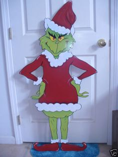 Grinch christmas decorations on pinterest grinch for Bah humbug door decoration