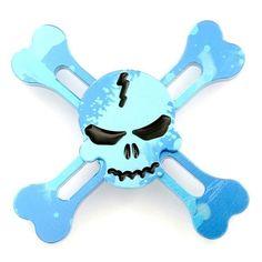 New Cool Finger Spinner Skeleton Pattern Fidget Spinner For Adult Kids Autism ADHD 4 Colors