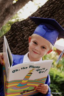 Pre-School or Kindergarten Graduate Photo ~this would be adorable to do also with high school and college and display all together