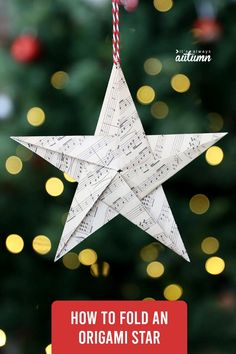 Origami Christmas Ornament, Paper Christmas Ornaments, Origami Ornaments, Star Ornament, Christmas Makes, Christmas Diy, Christmas Stars, Diy Christmas Projects, Simple Christmas Crafts