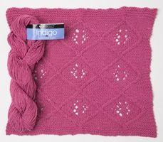Indigo by Berroco - A gorgeous cotton blend #yarn and FREE block #knitting pattern