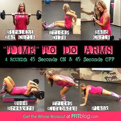 Arms workout - from Bonnie Pfiester #FitFluential