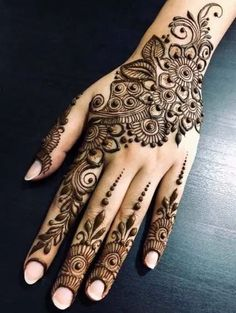 Henna Hand Designs, Mehndi Designs Finger, Wedding Henna Designs, Indian Henna Designs, Latest Henna Designs, Mehndi Designs For Beginners, Mehndi Designs For Fingers, Beautiful Henna Designs, Henna Tattoo Designs