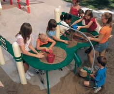Elevated Sand Table from Landscape Structures brings sandy playground fun to kids of all abilities. I need this!