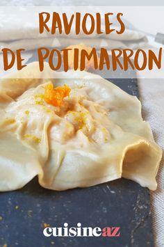 Ces ravioles de potimarron sont gourmandes, faciles, légères et végétariennes #recette#cuisine#pates#ravioles #potimarron #courge #vegetarien