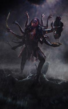 Mahakal Lord Shiva Quotes, Status and Images Kali Shiva, Kali Hindu, Kali Mata, Shiva Art, Hindu Art, Indian Goddess Kali, Goddess Art, Durga Goddess, Durga Maa