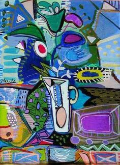 'Blue Vase' - Jose Merello ~~ For more:  - ✯ http://www.pinterest.com/PinFantasy/arte-~-arte-abstracto/