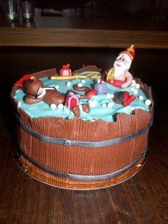 Sinterklaas en de pieten in bad! #taart #sinterklaas #cake