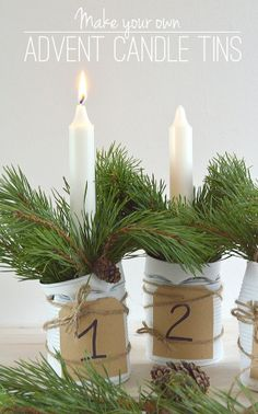Homemade Christmas Candles Ideas - Gold Washi Tape Candles