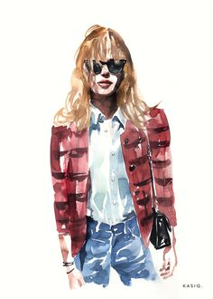 Fashion Illustration Kasiq Jungwoo on Behance<br> Watercolor Portrait Tutorial, Watercolor Sketch, Watercolor Portraits, Watercolor Illustration, Graphic Illustration, Watercolor Paintings, Fashion Design Drawings, Fashion Sketches, Composition Painting