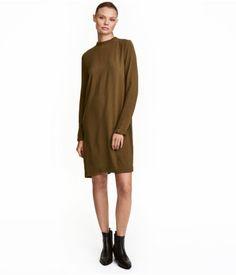 Dress with Ruffle Trim | Khaki green | Ladies | H&M US
