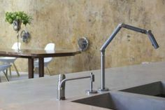Polished Concrete Worktop and Sink